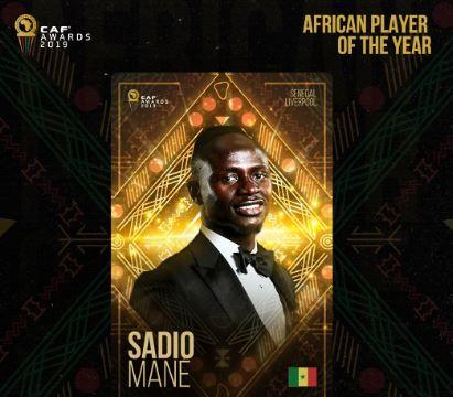 كاف.. يُتوج السنغالي ساديو ماني بلقب أفضل لاعب في أفريقيا لعام 2019
