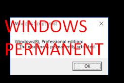 Cara Mengetahui  Dan Mengecek Status Windows Aktif Permanen Apa Tidak