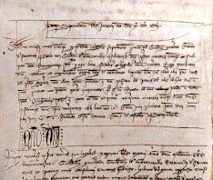 """El """"magister"""" Berenguer de Montagut mestre d'obres del Pont Nou de #Manresa (Any 1318). [Cortesia de Raquel Valdenebro. Arxiu Comarcal del Bages]"""