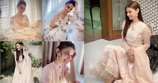 Actress Kiran Haq Gorgeous Pictures in various Eid dresses