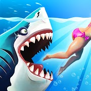 hungry shark world mod apk unlimited coin and diamond and pearls