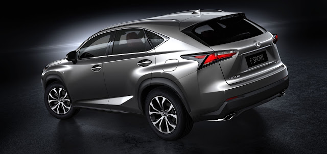 Rear 3/4 view of 2017 Lexus NX 200t