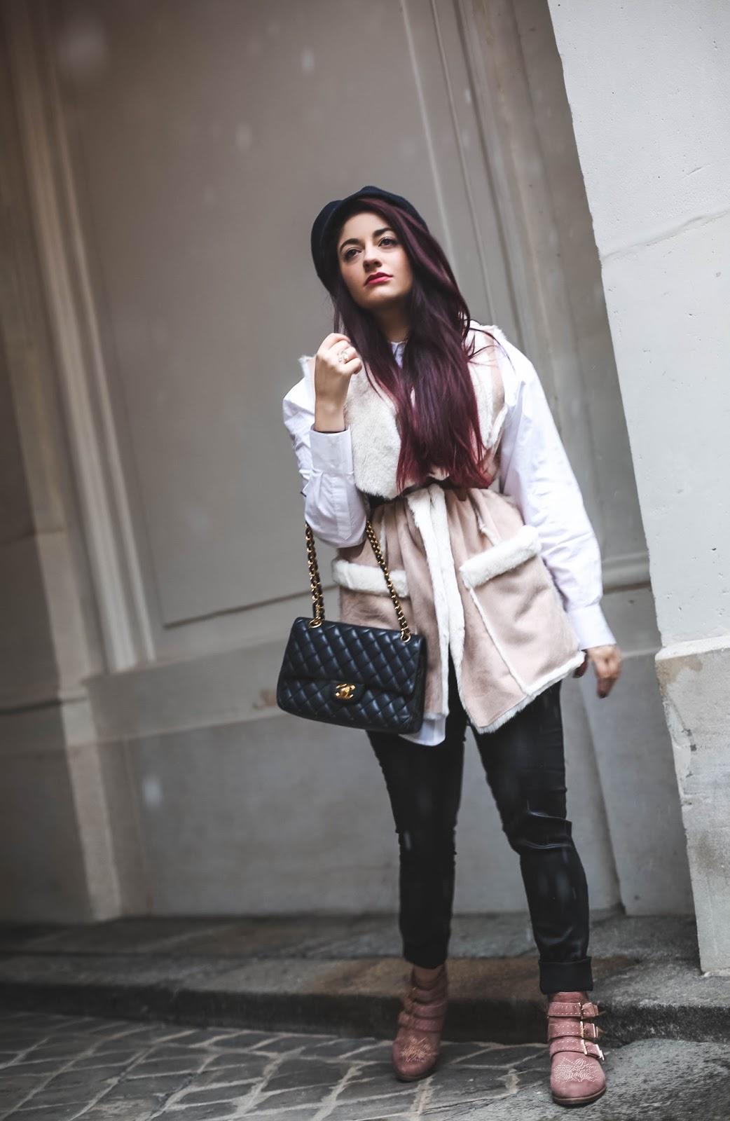 veste en nubuck rose blog mode paris