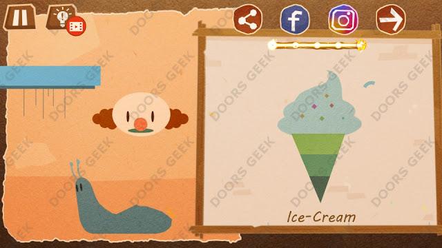 Chigiri: Paper Puzzle Novice Level 22 (Ice-Cream) Solution, Walkthrough, Cheats