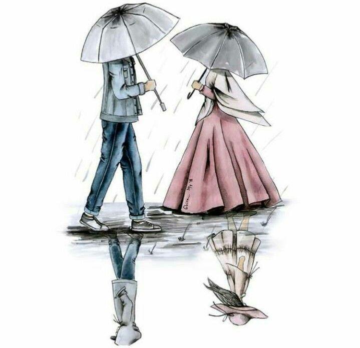 94 Kartun Muslimah Couple Romantis Terpisah Keren Cikimm Com