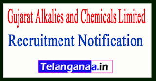 Gujarat Alkalies and Chemicals Limited GACL Recruitment Notification 2017