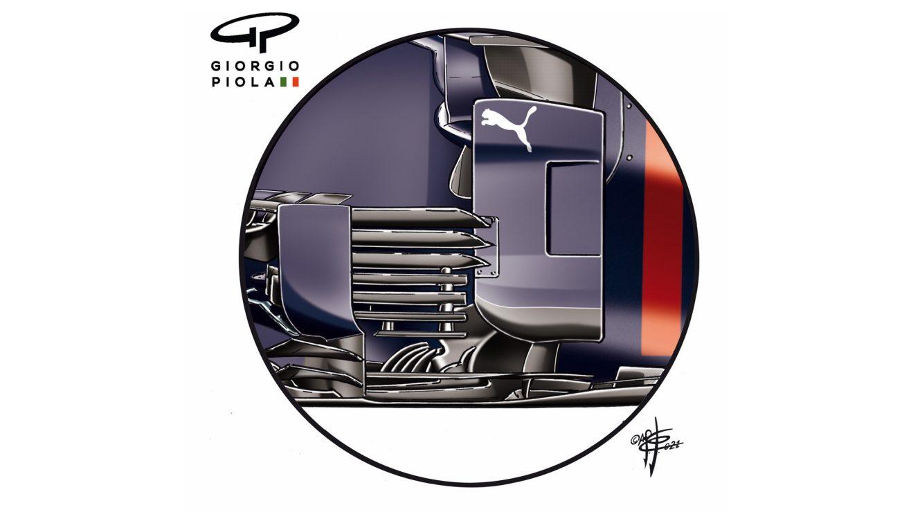 O novo bargeboard da Red Bull, trazido para Portimão…
