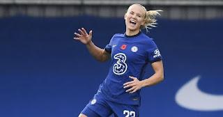 Chelsea's  Pernille Harder named best female footballer in the world for 2020