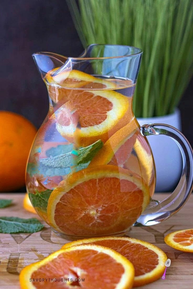 Orange for detox water