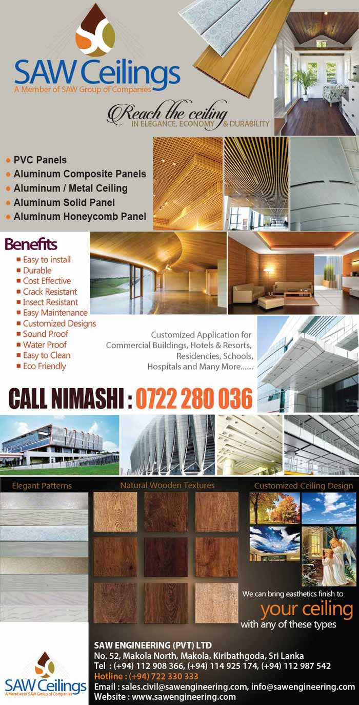 SAW Ceilings bring aesthetics finish to your ceiling