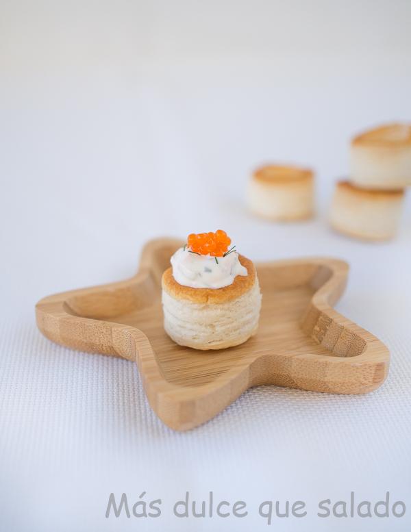 Crema de salmón. Perfecta para tartaletas, volován o para untar. Aperitivo de Naviadad