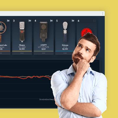 قبل شراء مايكروفون جديد ، هذا الموقع يسمح لك بتجربة جميع المايكروفونات في السوق لاختيار الأفضل