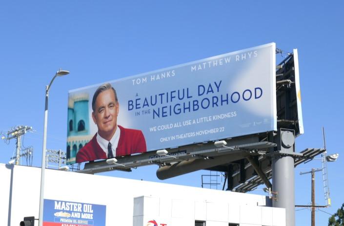 A Beautiful Day in Neighborhood film billboard