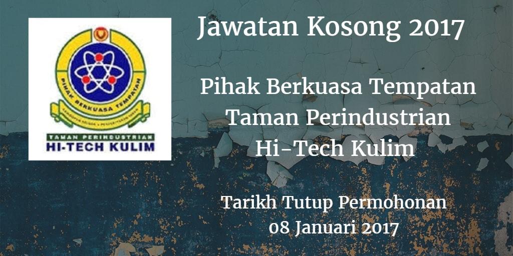 Jawatan Kosong Pihak Berkuasa Tempatan Taman Perindustrian Hi-Tech Kulim 08 Januari 2017
