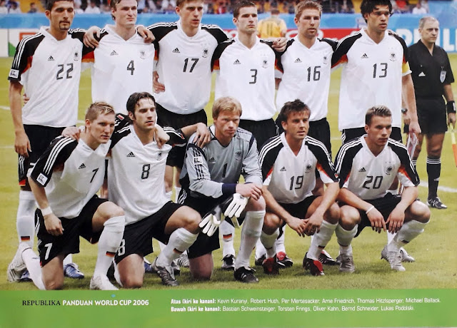 DEUTSCHLAND GERMANY FOOTBALL TEAM SQUAD 2006