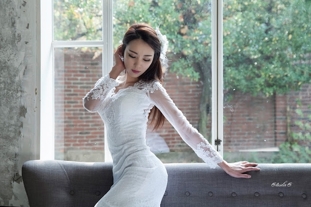 2 Ju Da Ha - wedding dress - very cute asian girl-girlcute4u.blogspot.com