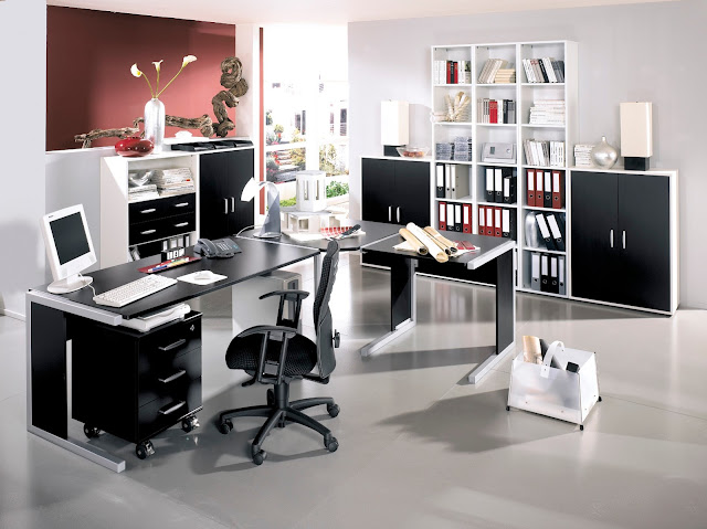 Minimalist Modern home office Design ideas wih modern furniture