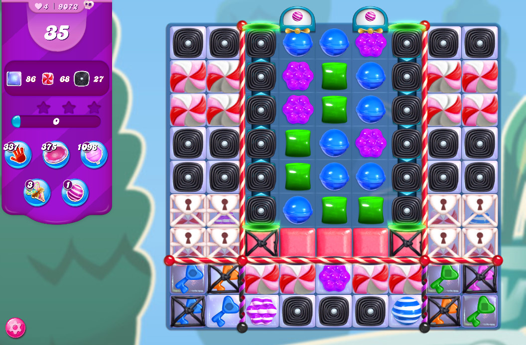 Candy Crush Saga level 9072