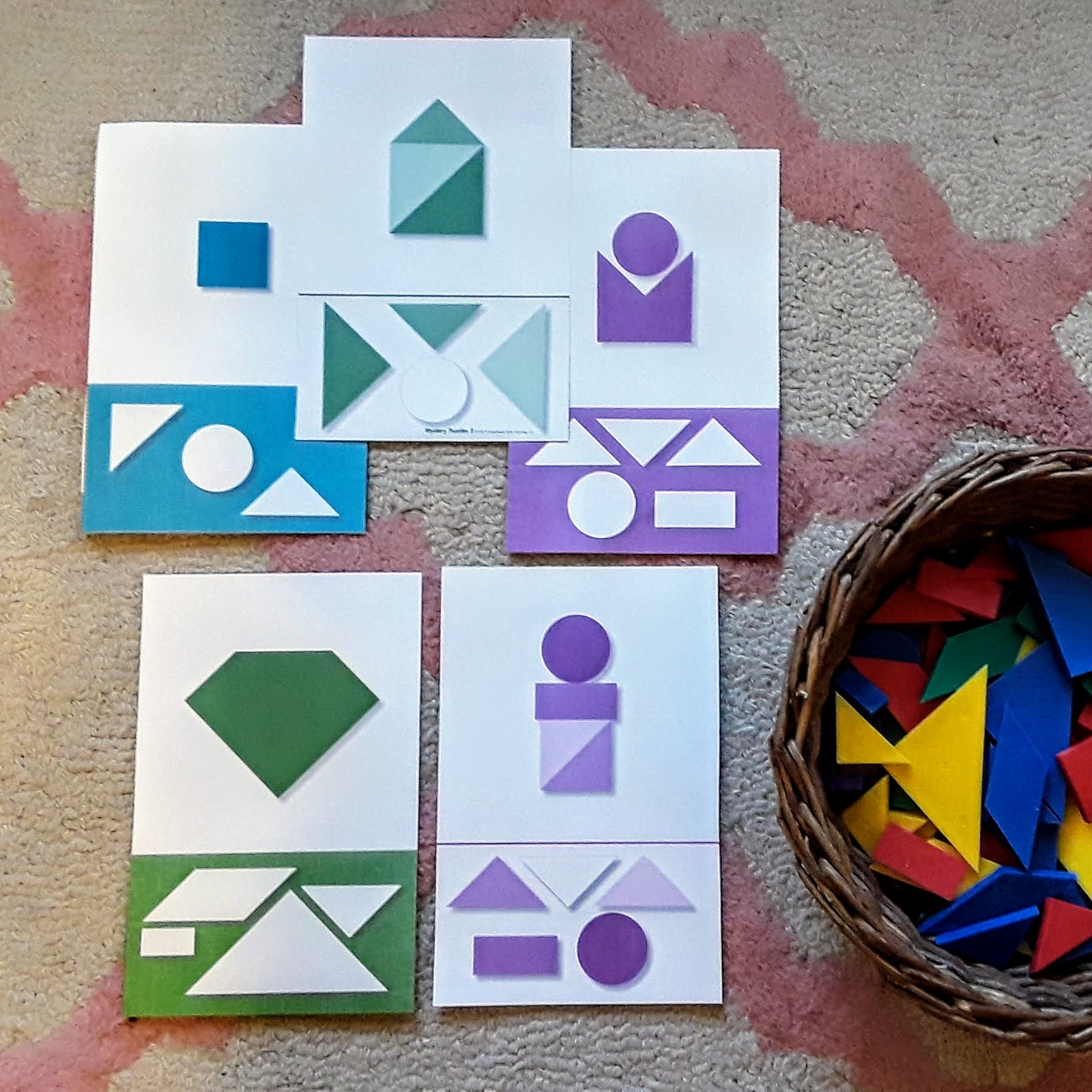 Jack Of All Trades Mystery Math Mats Shapes