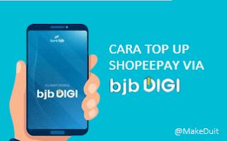 Cara Top Up ShopeePay Via BJB Mobile Digi
