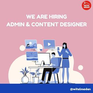 Admin dan content designer di Telkom Witel Medan