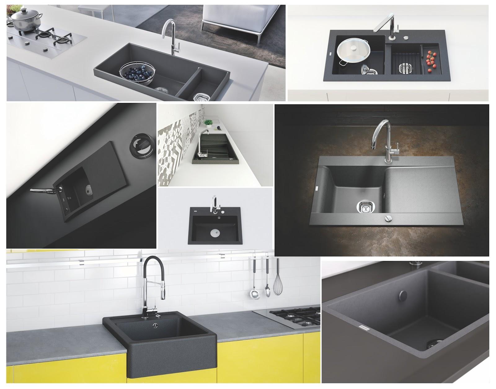 Chiuvete negre din granit compozit, funcționalitate și design în bucătărie