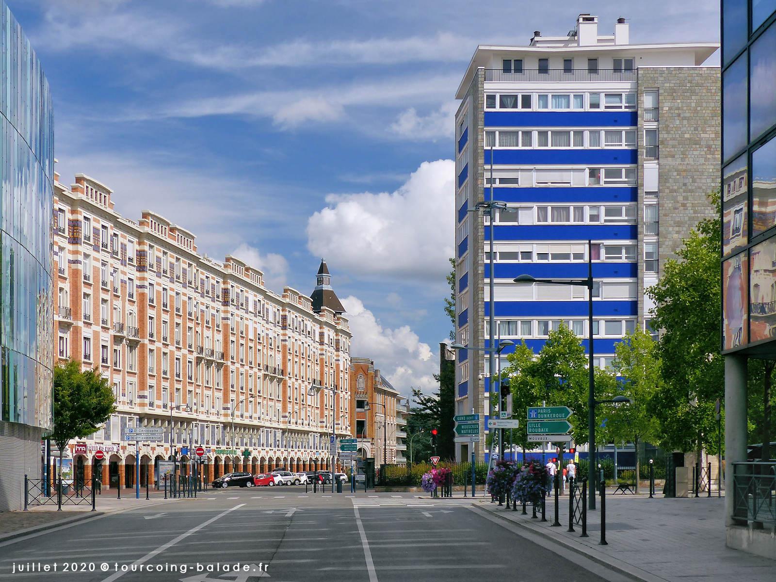 Rue Fidèle Lehoucq et Avenue Gustave Dron, Tourcoing 2020