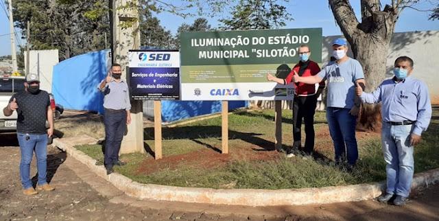 """Manoel Ribas: Estádio """"Silotão"""" ganha Iluminação!"""