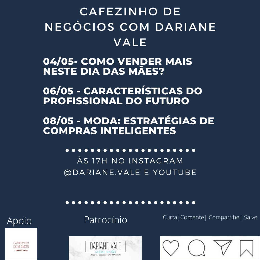 Cafezinho de Negócios: lives da semana