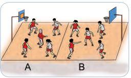 Bermain Bola Basket Menggunakan Setengah Lapangan Basket