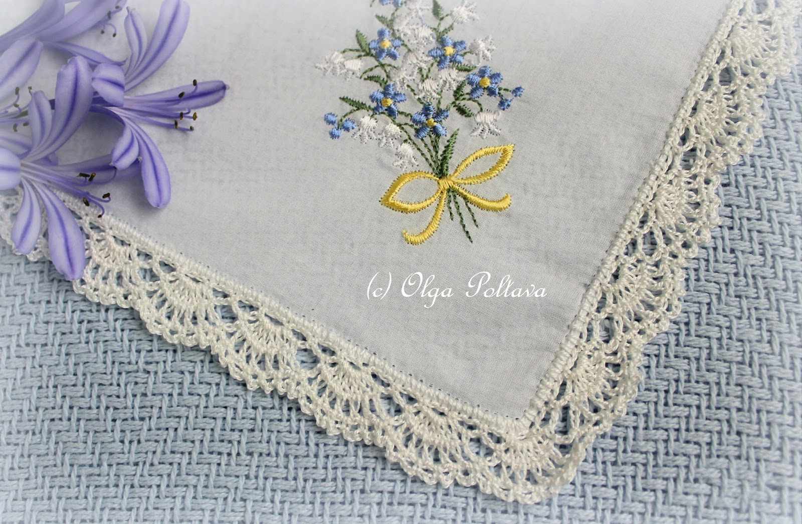 Simple Crochet Edging Patterns : Lacy Crochet: Lace Edging for a Handkerchief, Simple ...