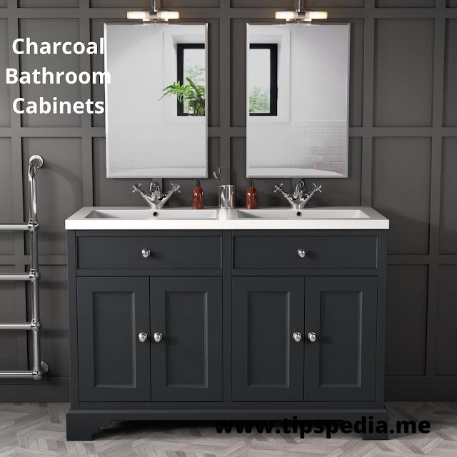 charcoal bathroom cabinets