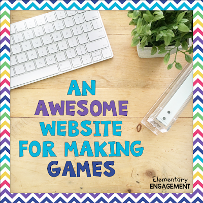This Website has a huge variety of games to make for your students to practice any skill.