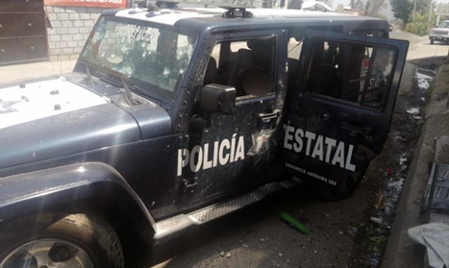 """LA """"RADIOGRAFIA de la MASACRE"""": ASI EMBOSCARON y ASESINARON al """"CONVOY COMPLETO"""" de 13 POLICIAS en una ZONA RURAL del EDOMEX"""