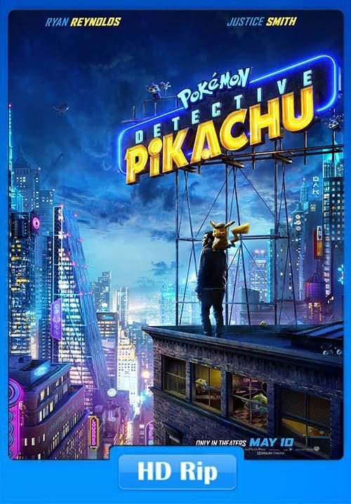 Pokemon Detective Pikachu 2019 720p HDRip x264 | 480p 300MB | 100MB HEVC Poster