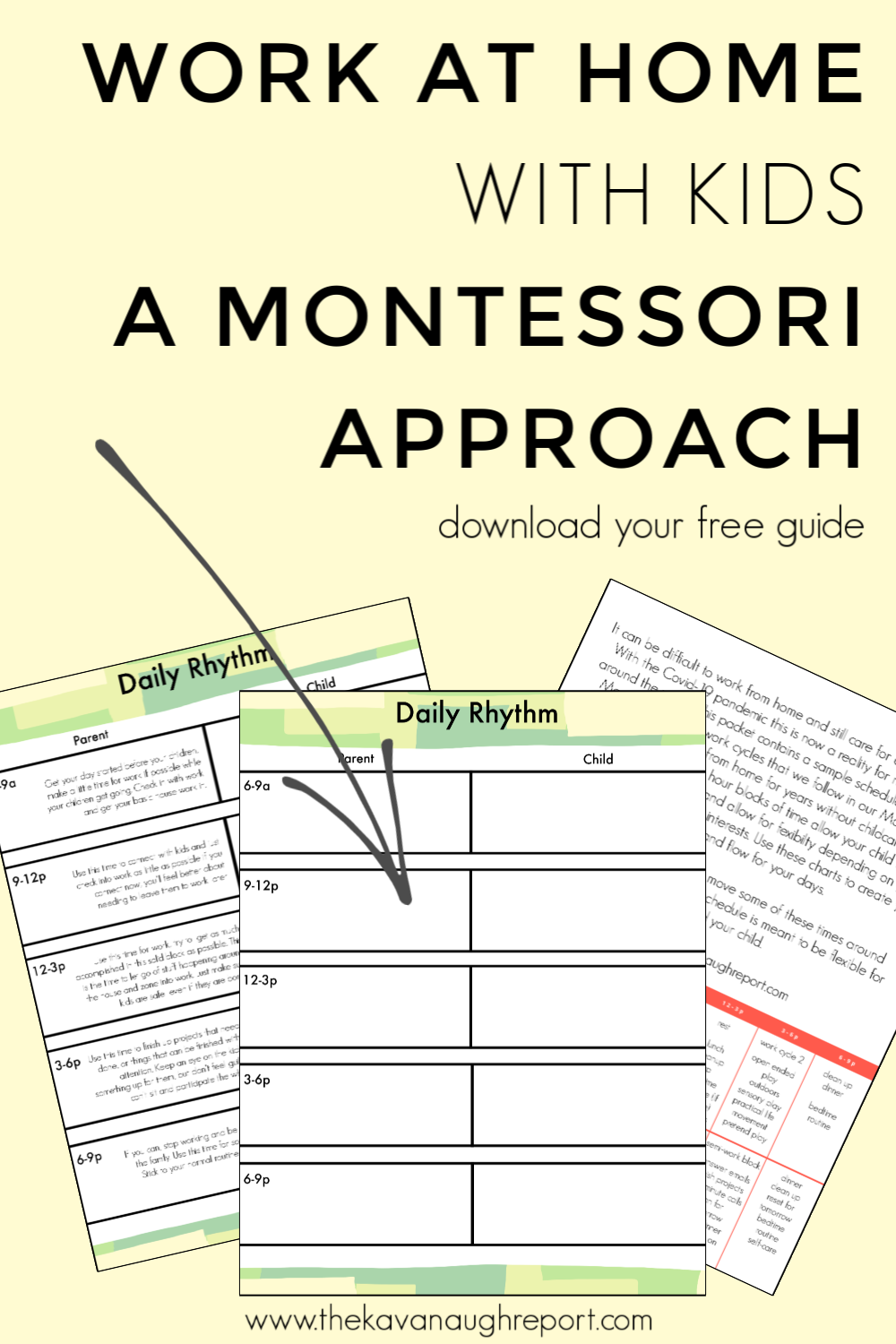 Working at home with kids can be difficult when it's a sudden adjustment. Here is a free Montessori guide for parents working at home with kids.