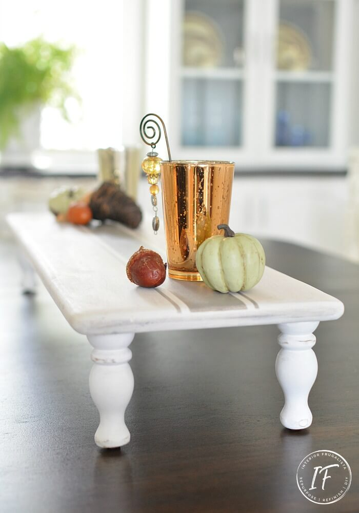 Wood Pedestal Tray