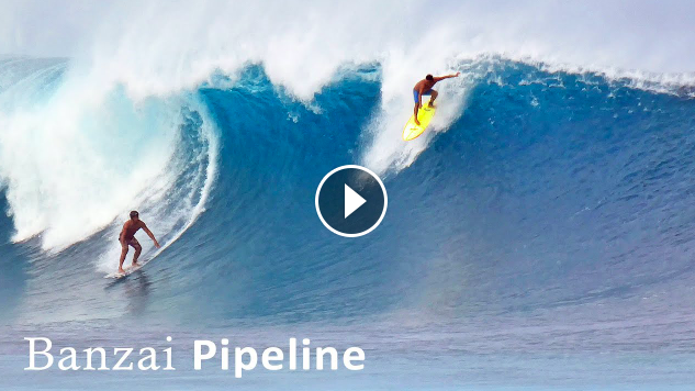 Surfing a Big Day at Banzai Pipeline Hawaii w Leonardo Fioravanti - Mark Healey - Mason Ho - Waves