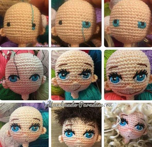 Вышиваем кукле глазки