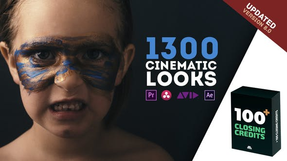 1300 LUTs Color Presets Pack | Cinematic Looks – Premiere Pro |Free Templates