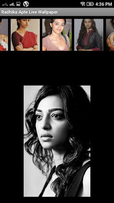 Radhika Apte 3D live Wallpaper For Android Mobile Phone