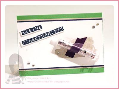 Stampin' Up! rosa Mädchen Kulmbach: Kleine Finanzspritze mit Labeler Alphabet und Perpetual Birthday Calendar