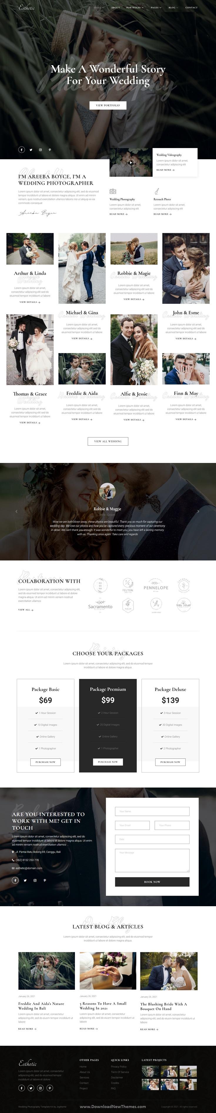 Wedding Photography Elementor Template Kit