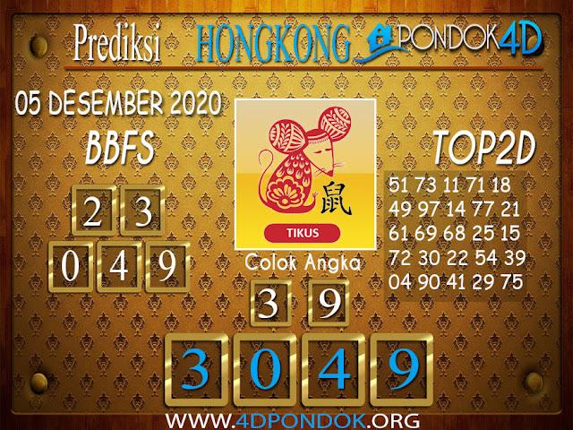 Prediksi Togel HONGKONG PONDOK4D 05 DESEMBER 2020