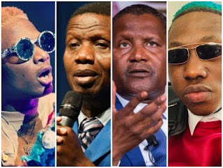 FUN TIME!!! You're In A Car With Wizkid, Pastor Adeboye, Dangote,& Zlatan And Your Phone Missed – Who Will You Suspect?
