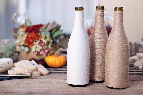 Vas benang sederhana dari Botol Bekas