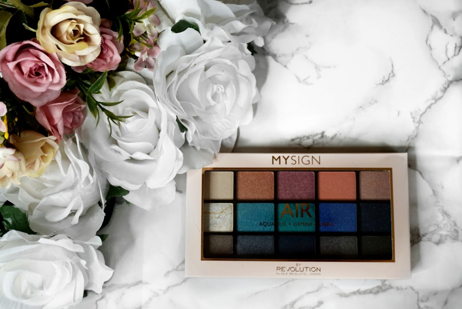 THE AIR SIGN EYESHADOW PALETTE BY MAKEUP REVOLUTION - A KKW X MARIO PALETTE DUPE