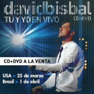 David Bisbal Tu Y Yo En Vivo, a la venta, USA, Brasil