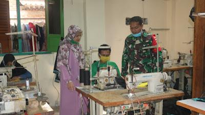 Istri Anggota Koramil/09 Pituruh Sukses Jalankan Usaha Konveksi dan Bordir