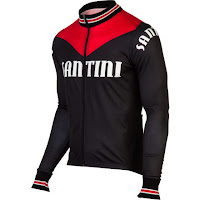 Santini Tech Wool Long-Sleeve Cycling Jersey